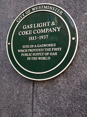 Photo of Gas Light & Coke Company green plaque