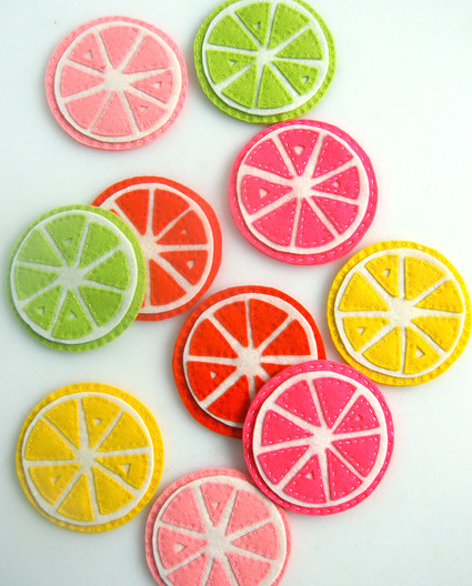 Citrus Coasters, on The Purl Bee