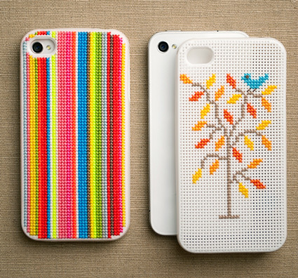 Cross stitch iPhone Cases, on The Purl Bee