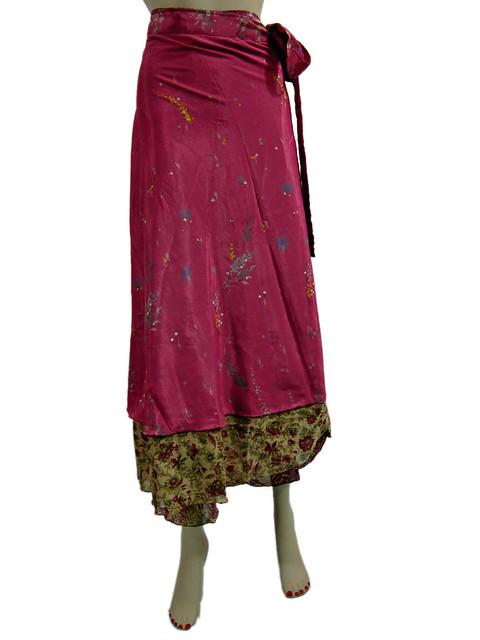 Wraparound Silk Skirt 71