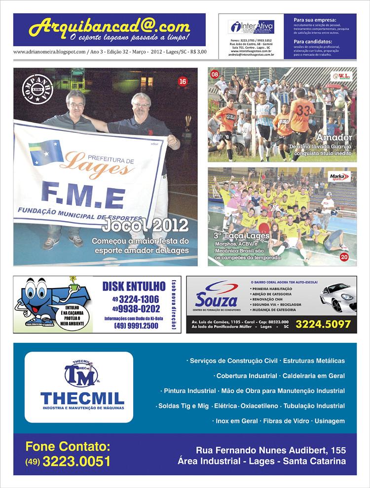 Jornal Arquibancada março 2012 - Edição nº32