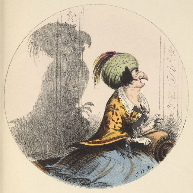 A parrot (1850s coloured lithograph by CH Bennett)