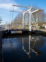 Houten ophaalbrug in Kockengen