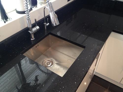 Black Starlight Quartz Installed In Essex Spm Granite