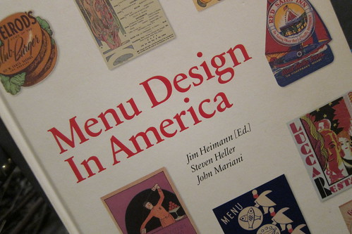 Menu Design in America:  Front Cover