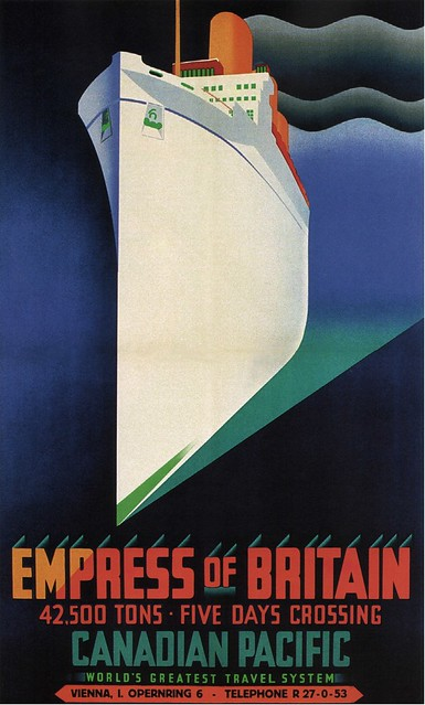Clement Dane. Empress of Britain. 1930