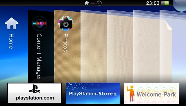 PS Vita card screen