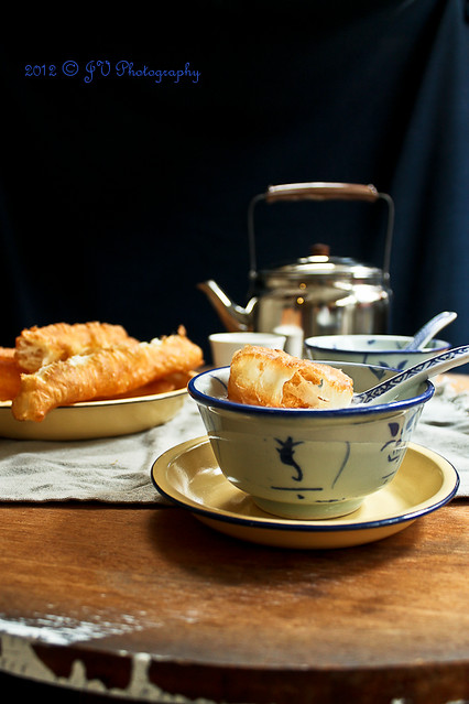 Traditional Chinese Breakfast - You Tiao and Dried Scallop ...