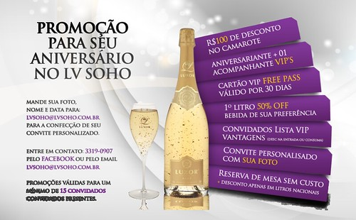 Arte Promo - Aniversário LV Soho by chambe.com.br