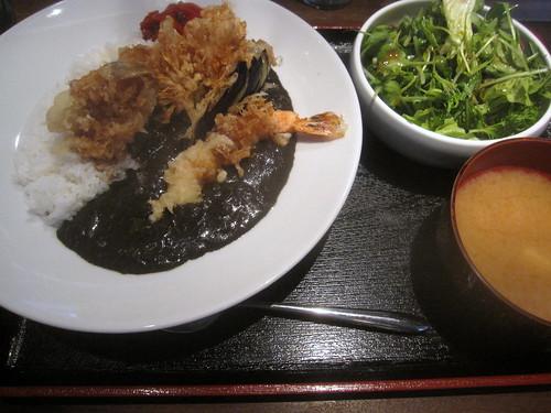 天ぷら黒カレー@ひさご(練馬)
