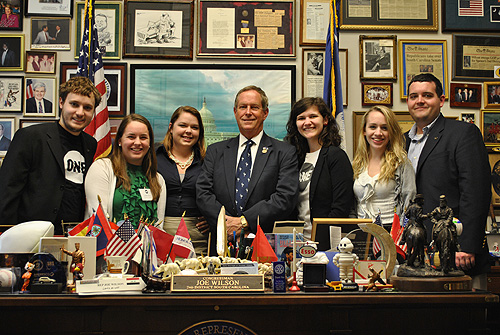SC Volunteers with Rep Joe Wilson