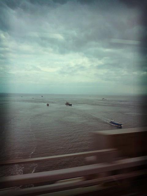 明石海峡を