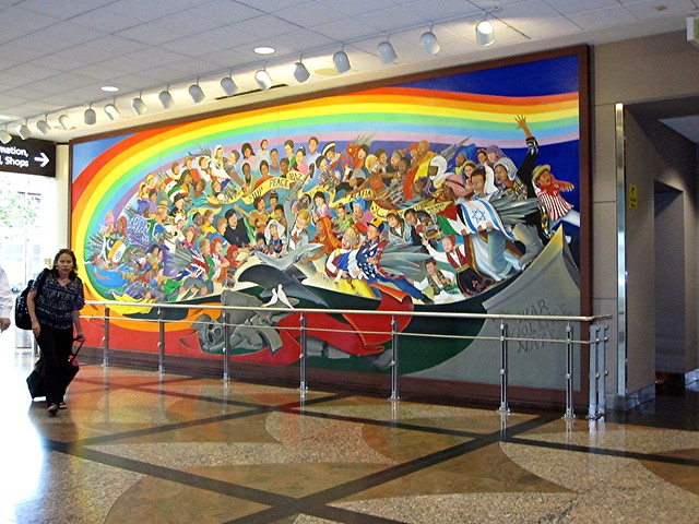 Denver airport murals 1 flickr photo sharing for Denver international airport mural