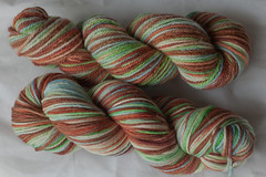 """Songs of Meditation""   on BFL and Superwash Worsted ( ...a time to dye)"