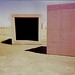 concrete boxes / Donald Judd / Chinati Foundation - <span>Holga Pano 6x12 cross processed</span>