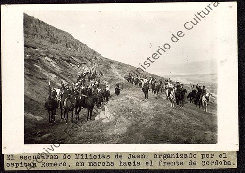 Escuadrón de Milicias de Jaén, organizadas por el capitán Romero