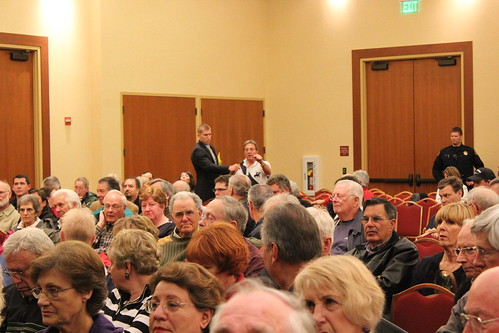 Man outraged with Washington DC @ Congressman McClintock in Lincoln, CA