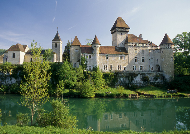 Château de Cléron, замки Франш-Конте, достопримечательности Франции
