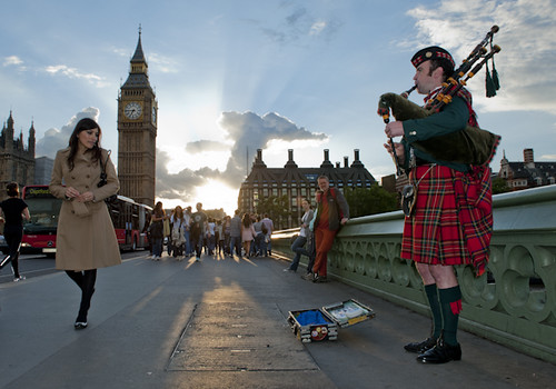 Bagpipe Busking by lucbonnici