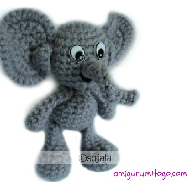 Crochet Elephant free pattern | free pattern: www amigurumit