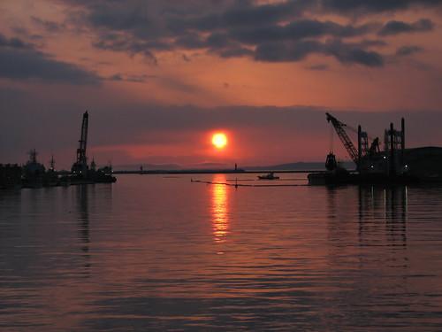 sunset japan hokkaido