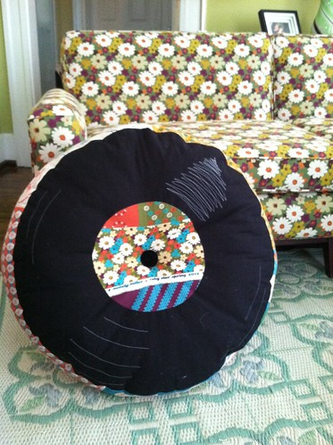 Ruby Star Record pillow