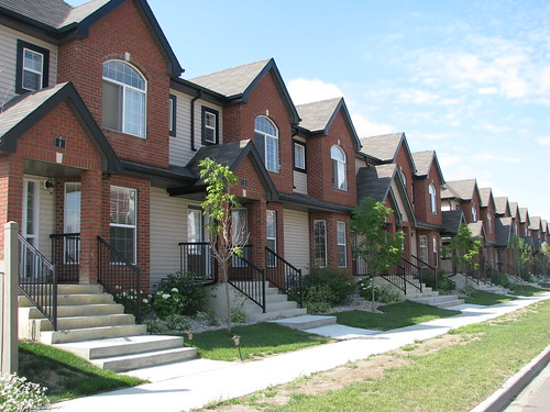 House design photo picturesque row housing Row home design ideas