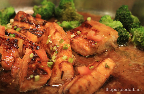 Grilled Salmon Belly Teriyaki