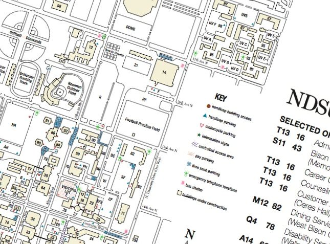 Ndsu Campus Map About College Flickr