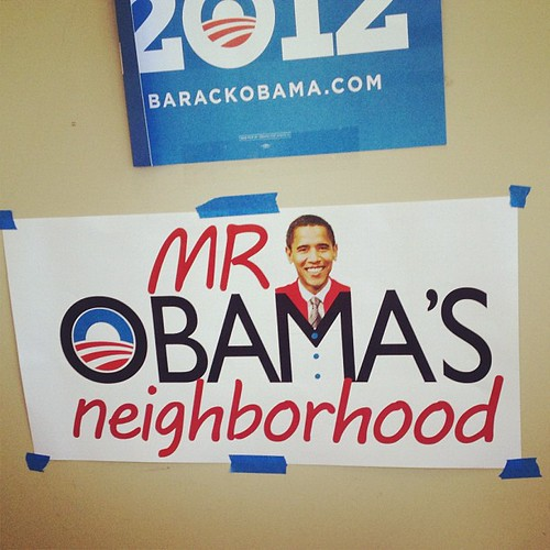 Custom signage from an @ofa_ia neighborhood team.
