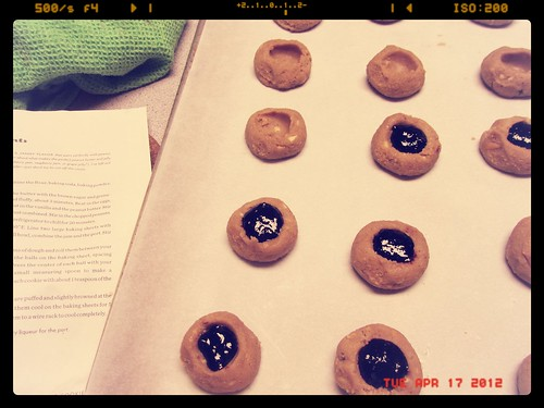 Making Peanut Butter & Port Thumbprints