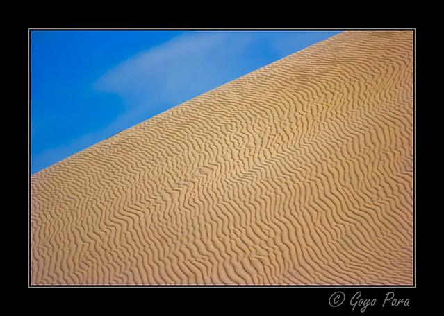 Las estrías de la arena