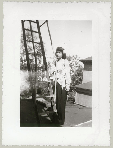 Girl and ladder
