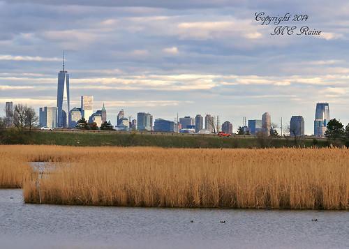 "new york sunset nature skyline skyscrapers dusk manhattan meadowlands wetlands ""new city"" jersey"" tower"" feet"" ""freedom ""golden ""magic richarddekortepark hour"" ""lyndhurst ""1776"