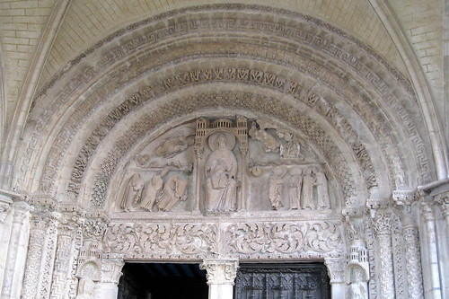 The north portal tympanum (c.1160), Bourges Cathedral, Bourges, Cher, France | by Spencer Means