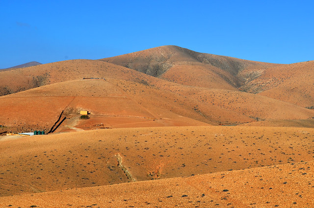 Smooth burnt orange hills, Fuerteventura