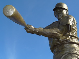 Statue of Hall of Famer Tony Gwynn - Outside Petco Field - San Diego, CA - USA - 01