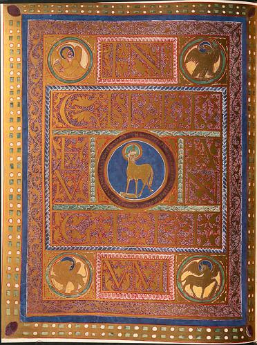 015-Incipit con figura del Cordero-Evangeliar  Codex Aureus - BSB Clm 14000-© Bayerische Staatsbibliothek