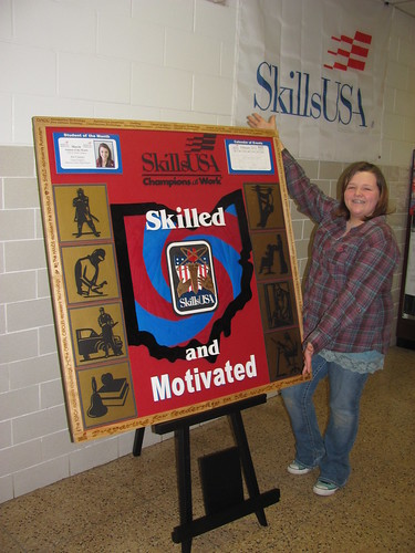 Makayla prepping for Skills Regionals