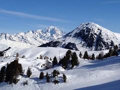 Le Mont-Blanc depuis La Plagne