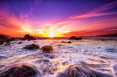Sunset Colors Over Marshall's Beach Rocks