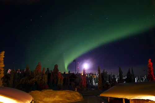 Northern Lights & The Moon