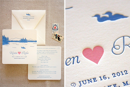 Sebago Lake, Maine Save the Dates by Sarah Parrott