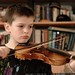 nick practices violin    MG 9738