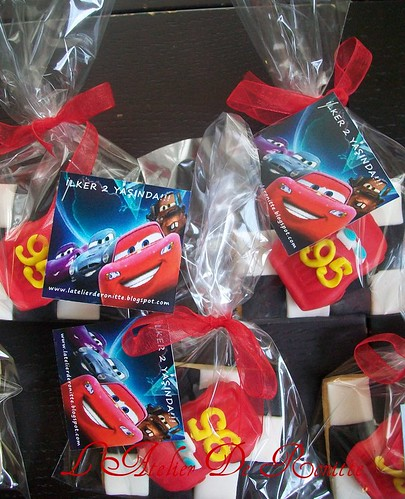 Şimşek McQueen kurabiyeler by l'atelier de ronitte