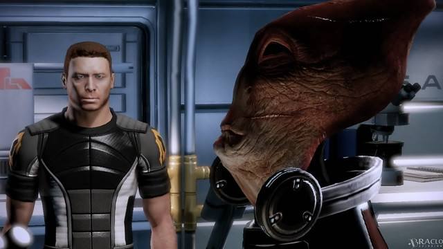 Scientist Salarian - Shepard not impressed...