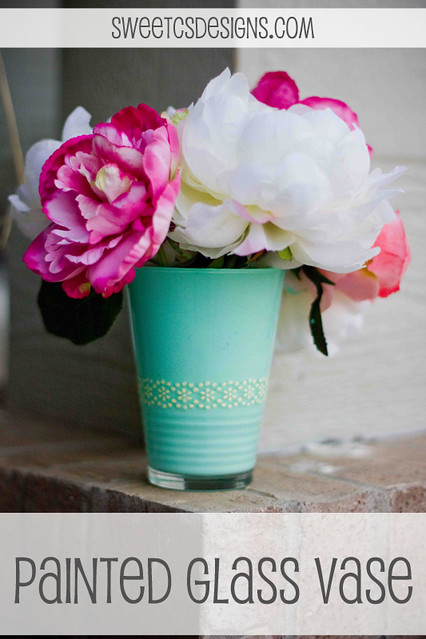 easy and beautiful- painted glass vase