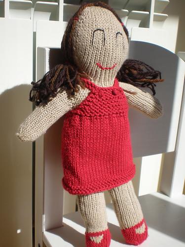 doll knit pattern muñeca lola tejer