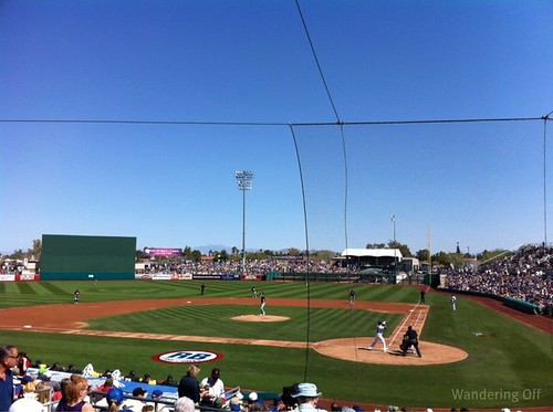 Cubs spring training game vs. Oakland A's. Mesa, AZ