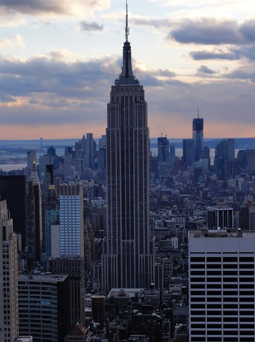 View of the Empire State Building from Top of the Rock Rockefeller Center New York